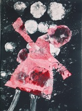 Abby DuBow Tripping in the Snow Monotype