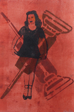 Abby DuBow Good Housekeeping Series Monotype - Paper Lithography