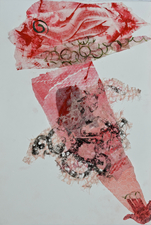 Abby DuBow Hand-printed collages Hand-printed torn paper collage print