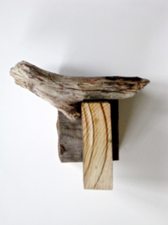 Abby DuBow Small, Mixed Media Sculpture Wood