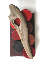 Abby DuBow Small, Mixed Media Sculpture Wood, paint