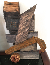 Abby DuBow Small, Mixed Media Sculpture Wood, metal