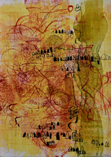 Abby DuBow Reds Monotype/Collograph