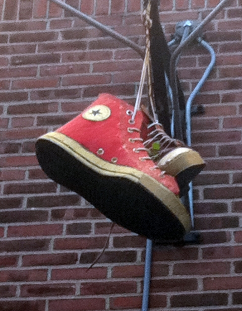 Casual Sculpture Sneaker's Bar and Grill  3d sign