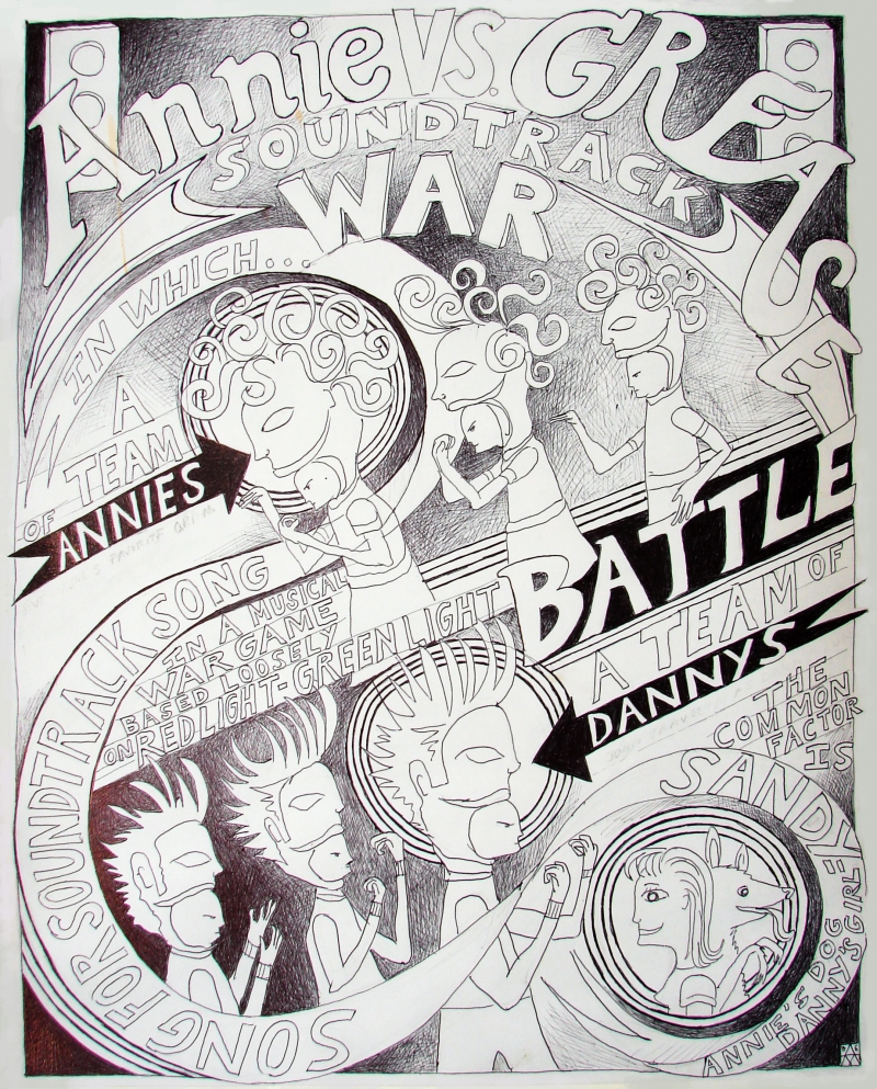 Annie Vs. Grease Soundtrack War Poster for Annie Vs. Grease Soundtrack War