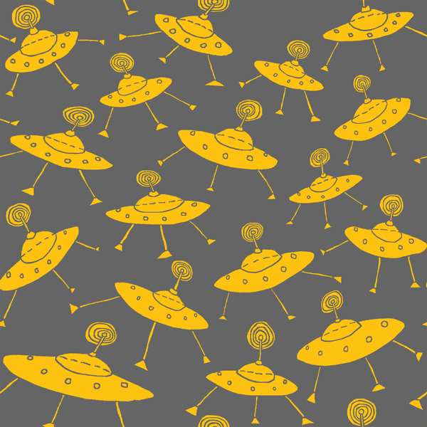 Murals, fabrics, repeating designs UFO print digital