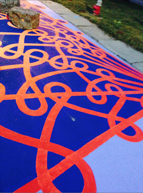 Interlace: A street mural at Dewey Park  Interlace: A street mural at Dewey Park