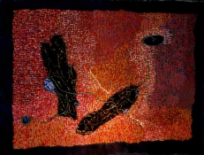 Abhijit Goswami Painting 2010 Mixed Media including Rags on gessoed Cotton