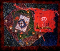 Abhijit Goswami Painting 2010 Mixed Media including Rag on gessoed Cotton