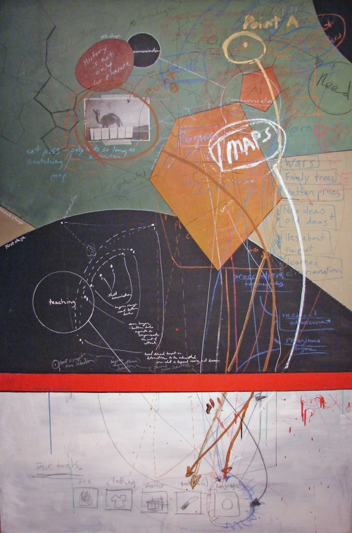 Adam Welch Selected 2D  Mixed media on canvas