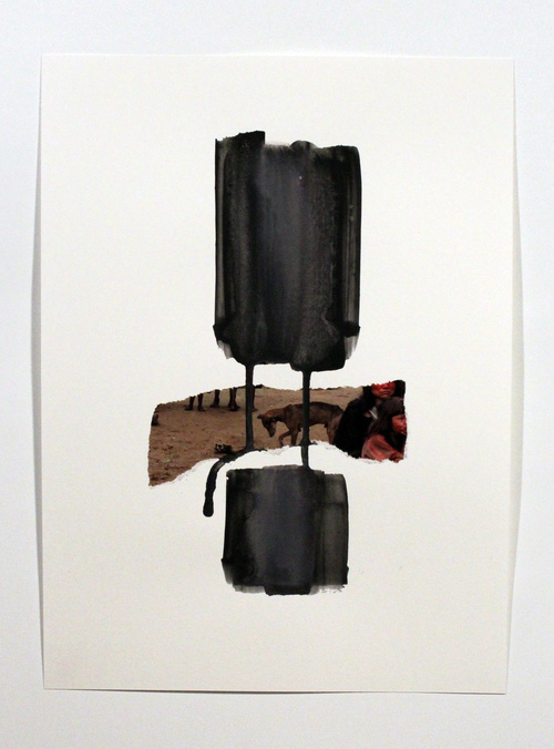 Adam Welch Selected 2D Collage, acylic, on paper