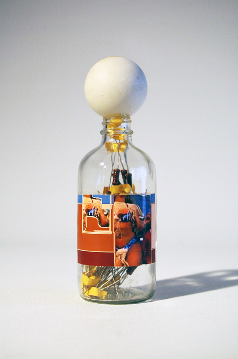 Adam Welch An Apothecary (series)  Glass, digital print, resistors, hand carved marble, epoxy