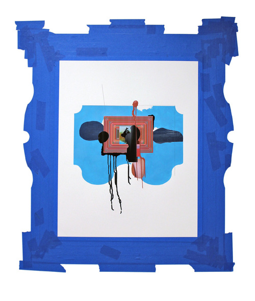 Adam Welch Selected 2D Collage on paper, acrylic, tape