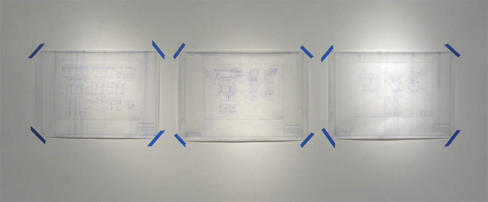Adam Welch Selected 2D Ink and saliva on vellum, blue tape