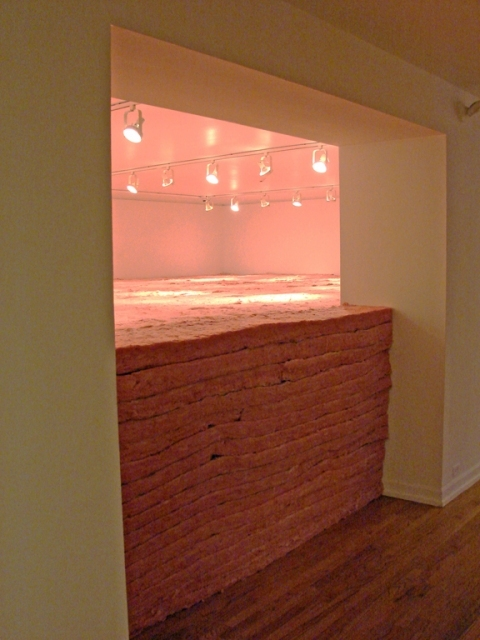 Adam Welch Selected Installed works Fiberglass insulation, cardboard, wood