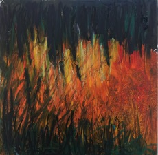 Adrienne Momi L'inferno delle montagne mixed media