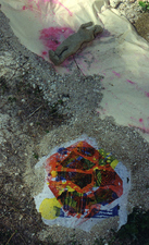 Adrienne Momi Footprints at Testice-Kjovice Monoprint on handmade paper