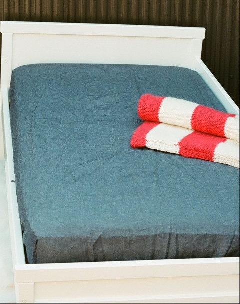 FITTED SHEETS - CRIBS & TODDLER BEDS Fitted Sheet - Denim