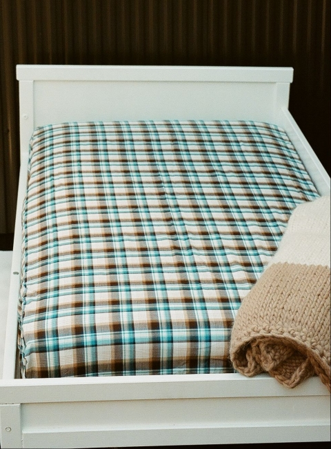 FITTED SHEETS - CRIBS & TODDLER BEDS Fitted Sheet - Plaid