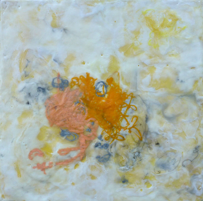 Ahavani Mullen Archive Pigmented beeswax, oil, kozo paper and graphite