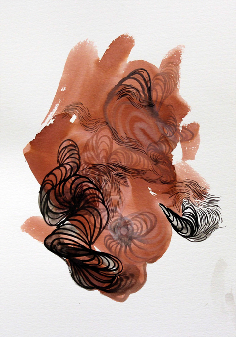 Ahyeon  Kye  Kim Wet Media Indian Ink on paper