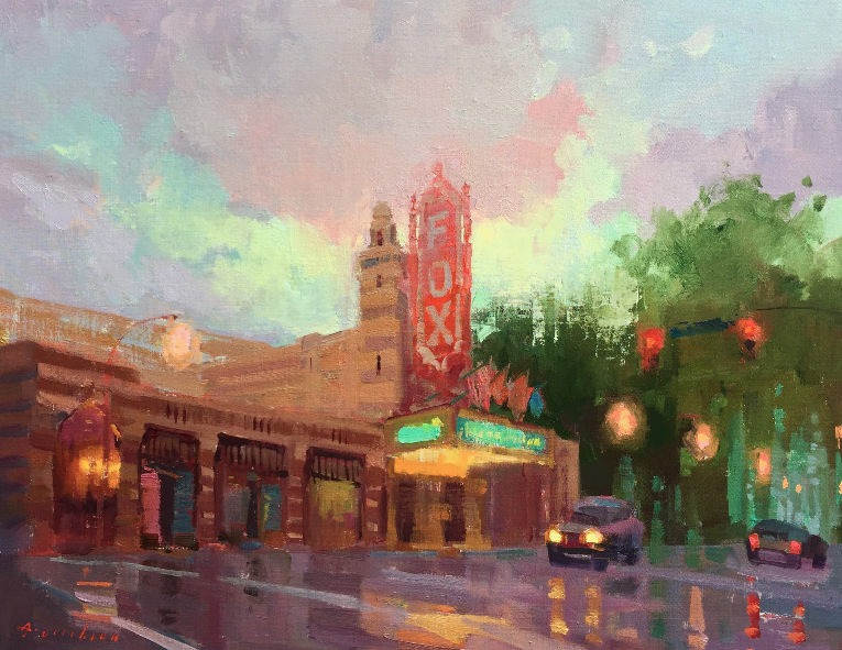 Available/Recent Paintings Atlanta's Iconic Fox Theater
