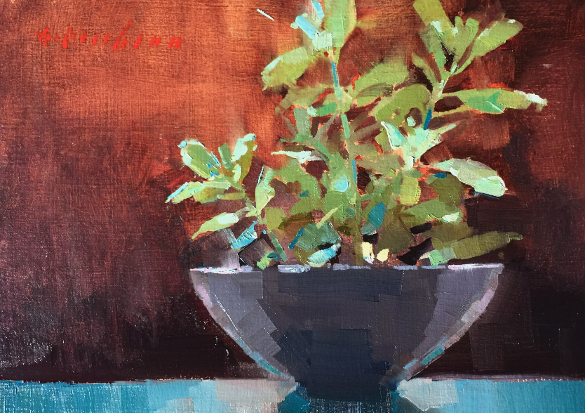 Available/Recent Paintings Houseplant