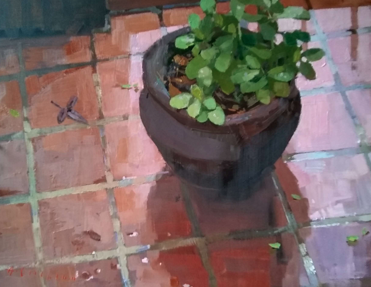 Available/Recent Paintings Patio Plant