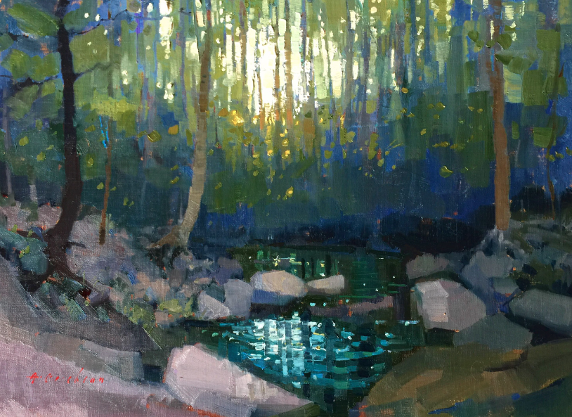 Available/Recent Paintings The Falls at Dusk
