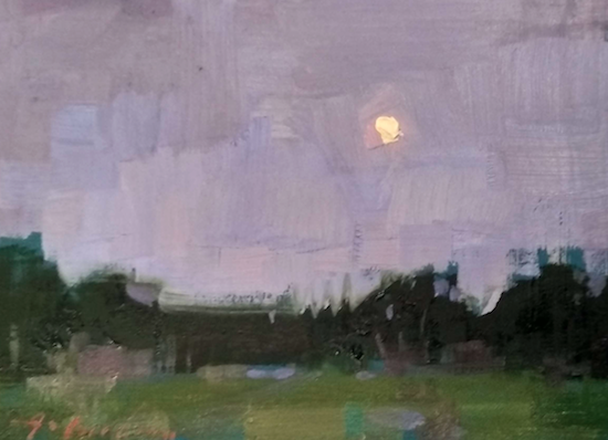 Available/Recent Paintings Miniature Moonrise