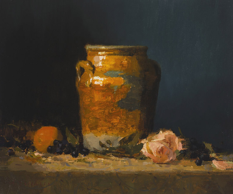 Available Paintings Still life with Orange and Rose