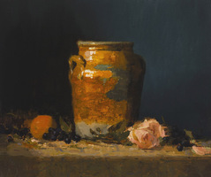 Still life with Orange and Rose