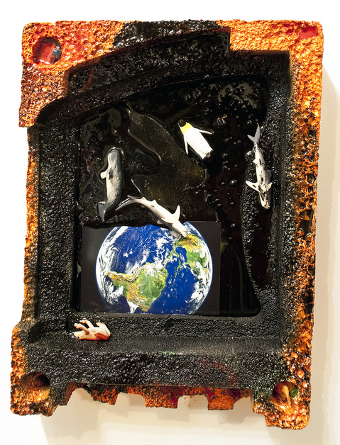 Painting and Mixed Media Earth Spill