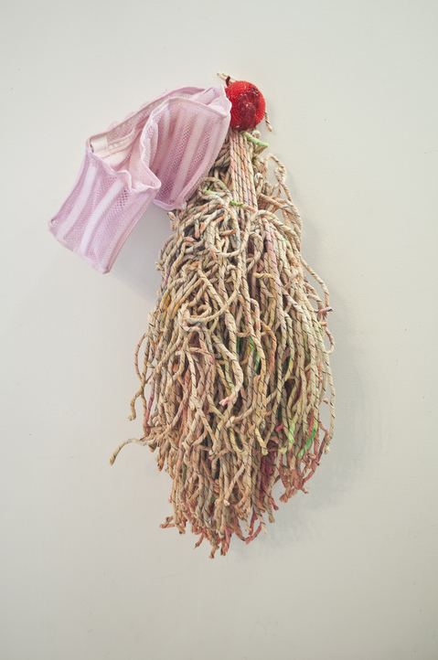 aimee hertog Installation and Sculpture Mop, paint, sock bag, sponge, glue, pigment, resin