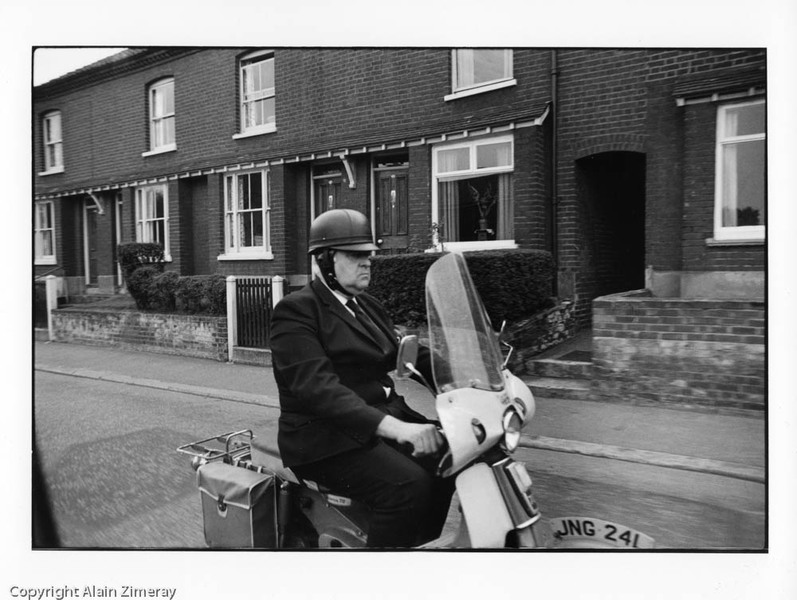 UK 1974 Man on Vespa