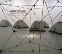 Alexander Viscio Performance/Installations 1999-2006 6 dome tents and a 3 x 3 x 3 meter copper tube  frame.