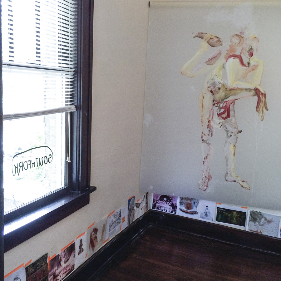 Installation images Pickling Fat Souls in Sugar, Southfork Gallery, Memphis TN
