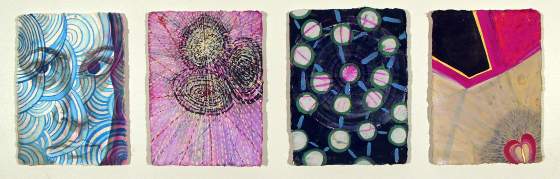 Alexandra Rutsch Brock Paintings 2012 gouache, ink, watercolor on handmade Indian papers