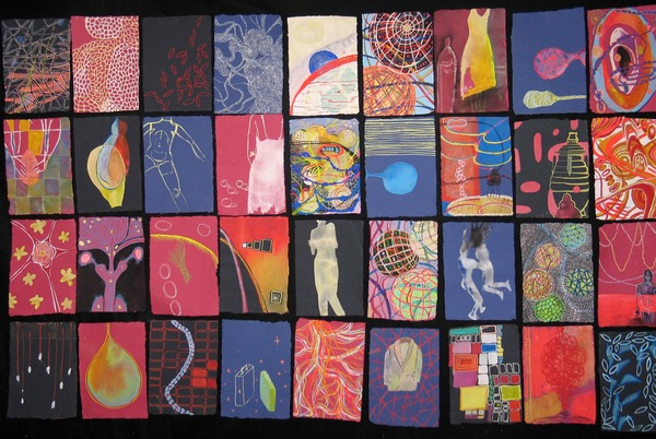 Alexandra Rutsch Brock Paintings 2005-2006 gouache on handmade Indian paper