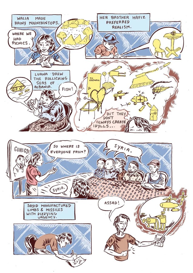 Ali Fitzgerald Refugee Comic Project