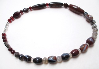 ALI HERRMANN Stone Necklaces and Bracelets varietal agates, chalcedony, breciatted jasper, sterling clasp