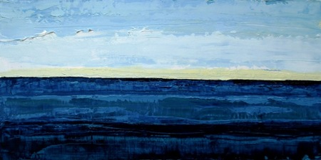 ALI HERRMANN Out to Sea Series impasto oil on panel
