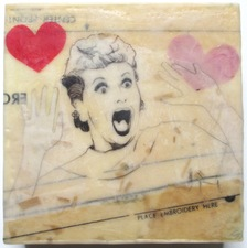 ALI HERRMANN Women Icon Project Mixed media encaustic