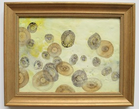 ALI HERRMANN Organic Orbs encaustic collage