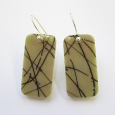 ALI HERRMANN Art Transfer Domino Upcycles domino/transfer earrings