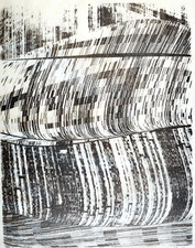ALISON DELL DATA ANTIVISUALIZATION Stone Lithograph