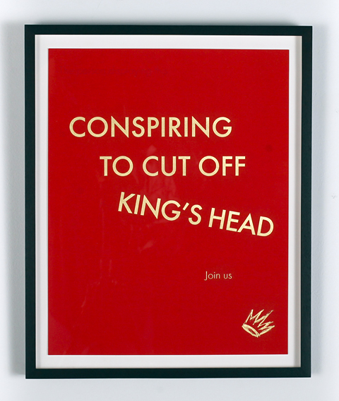 Auction Works to Date 2017 DREAD SCOTT: Conspiring to Cut Off the King's Head