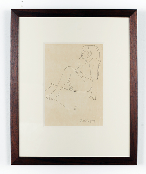 Auction Works to Date 2017 MEL LEIPZIG: Seated Nude