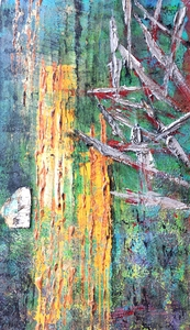 alla boldina paintings acrylics, mixed media on board