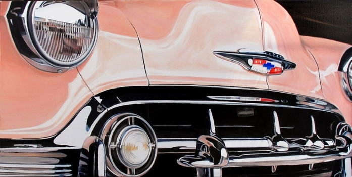 allan gorman On the Road Oil on Linen